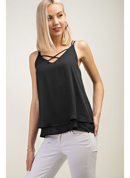 12PM V Neck Strappy Tank
