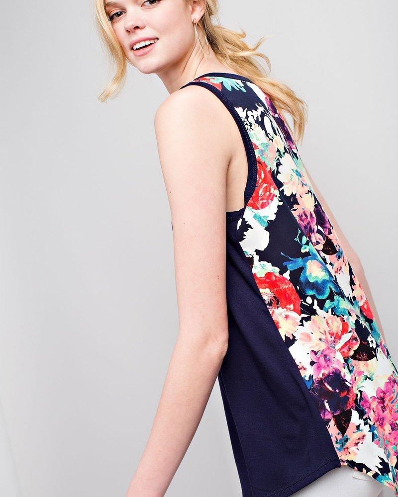 12PM Woven Floral Print Tank