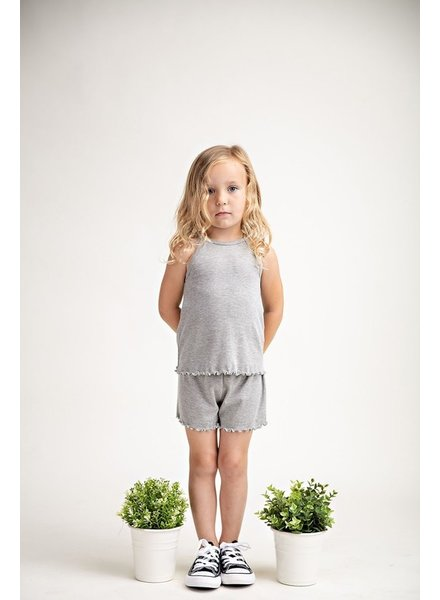 12PM Kids Ribbed Pajama Set