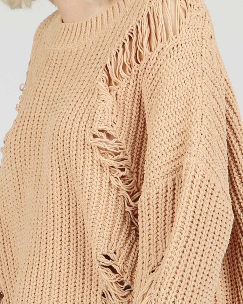 Destroyed Chenille Sweater