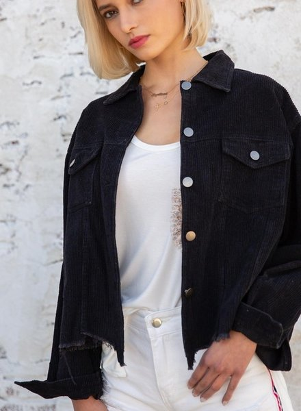 Corduroy Button Up Jacket