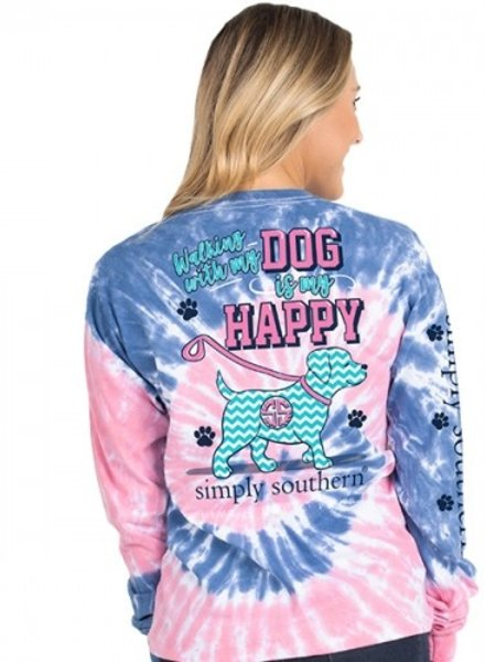 Simply Southern Walking with my Dog LS Shirt