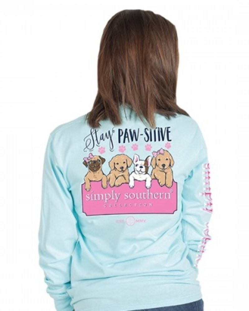 Simply Southern Stay Pawsitive LS Shirt
