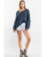 V Neck Sprinkle Cupcake Inspired Wool Sweater
