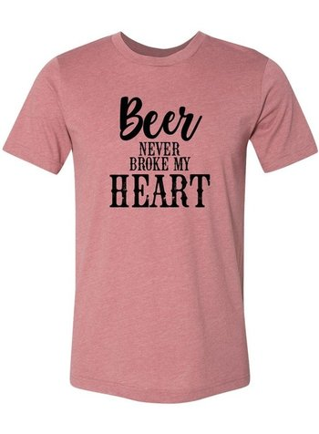 Ocean & 7th Beer Never Broke My Heart Tee