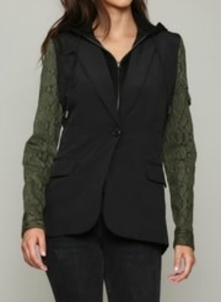 Fate by LFD Hood Insert Shirt Jacket With Snake Sleeves