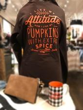 Southern Bliss I Like My Attitude How I Like My Pumpkins Long Sleeve Shirt