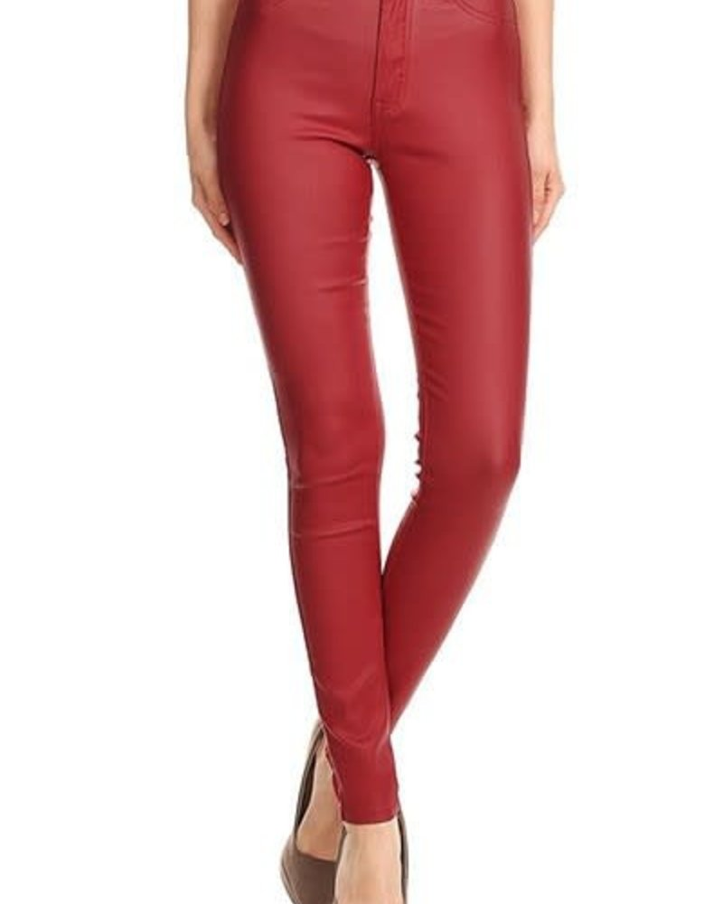 JC & JQ Faux Leather High Rise Jegging
