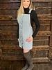 Corduroy mini skirt overalls