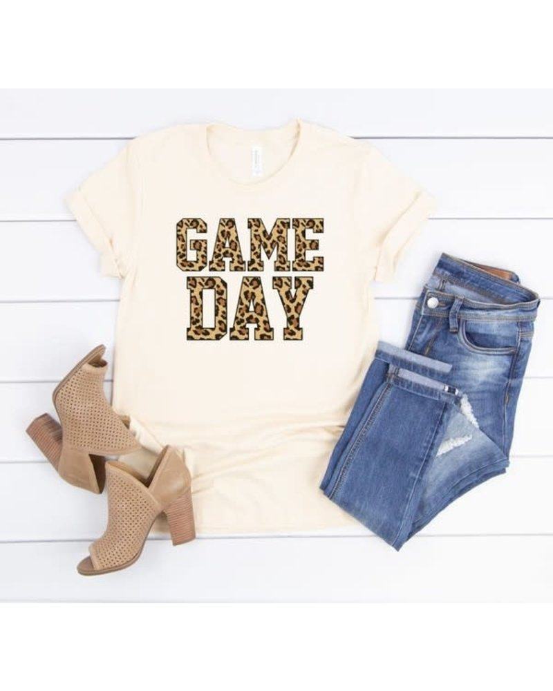 Canvas Leopard Game Day Tee