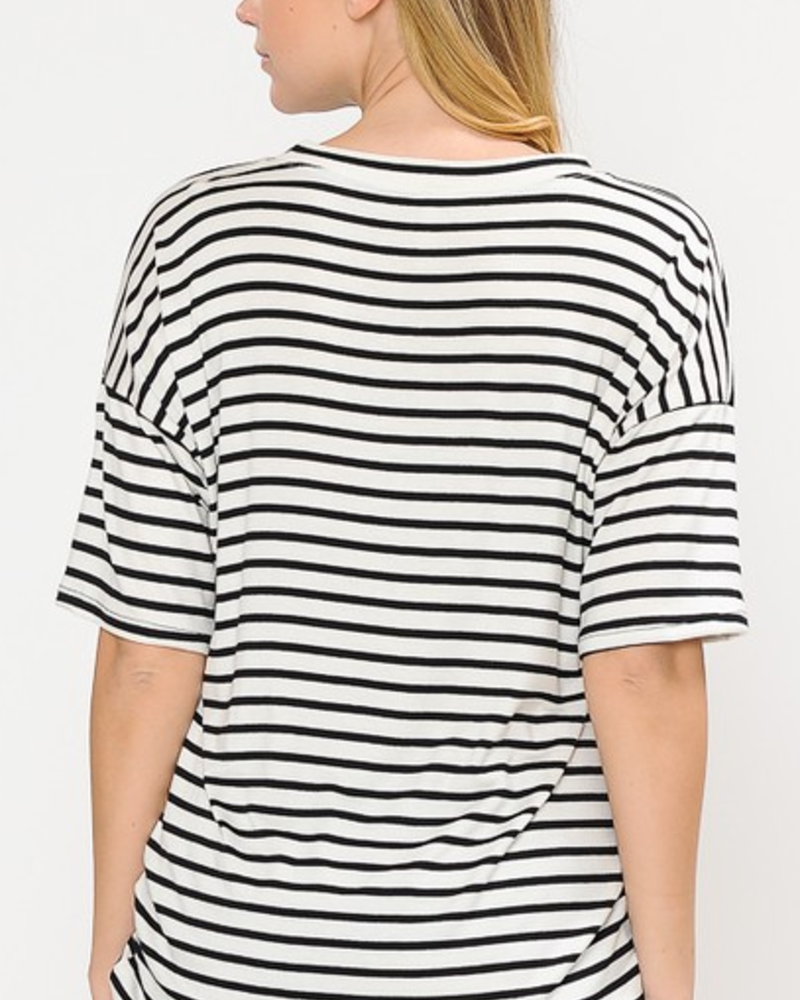 Magic Fit Striped Short Sleeve Top