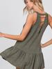 CY Fashion Ruffle Hem Tunic w/Open Back