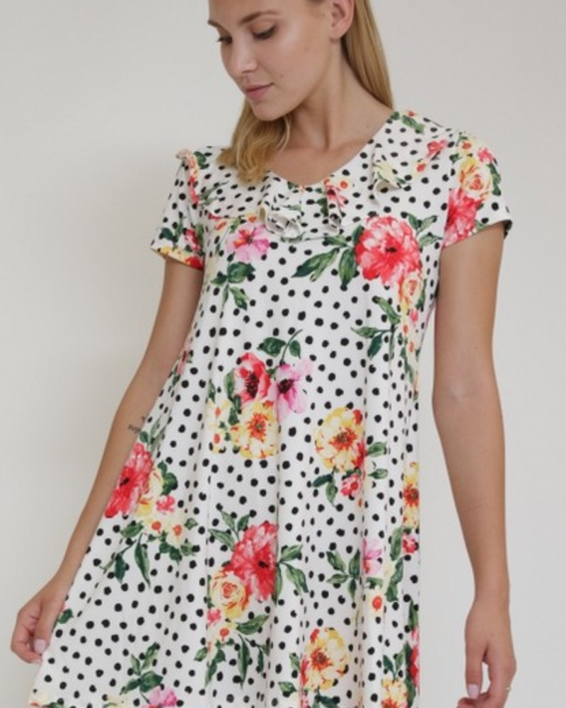 1 Funky Polka Dot Floral Dress