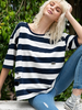 Striped Destroyed Tee