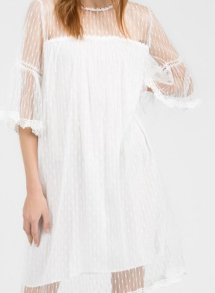Sheer Lace Dress w/ Keyhole Back