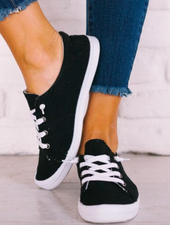 WeeBoo Lace Up Slip On Canvas Sneaker