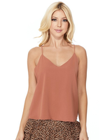 Akaiv V-neck Cami w/ Open Cage Back