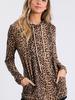 CY Fashion Leopard Hoodie w/Pockets