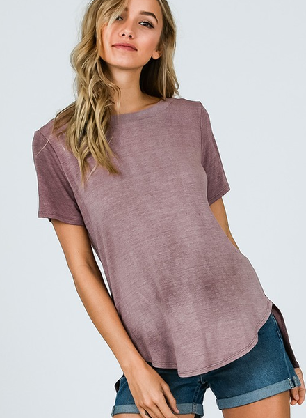 CY Fashion Round Neck Top w/Cage Back
