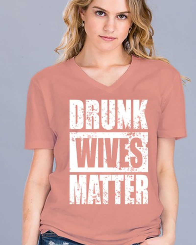 Cotton Heritage Drunk Wives Matter Tee