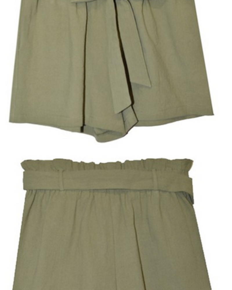 Have Fashion Paper Bag Shorts w/ Front Tie