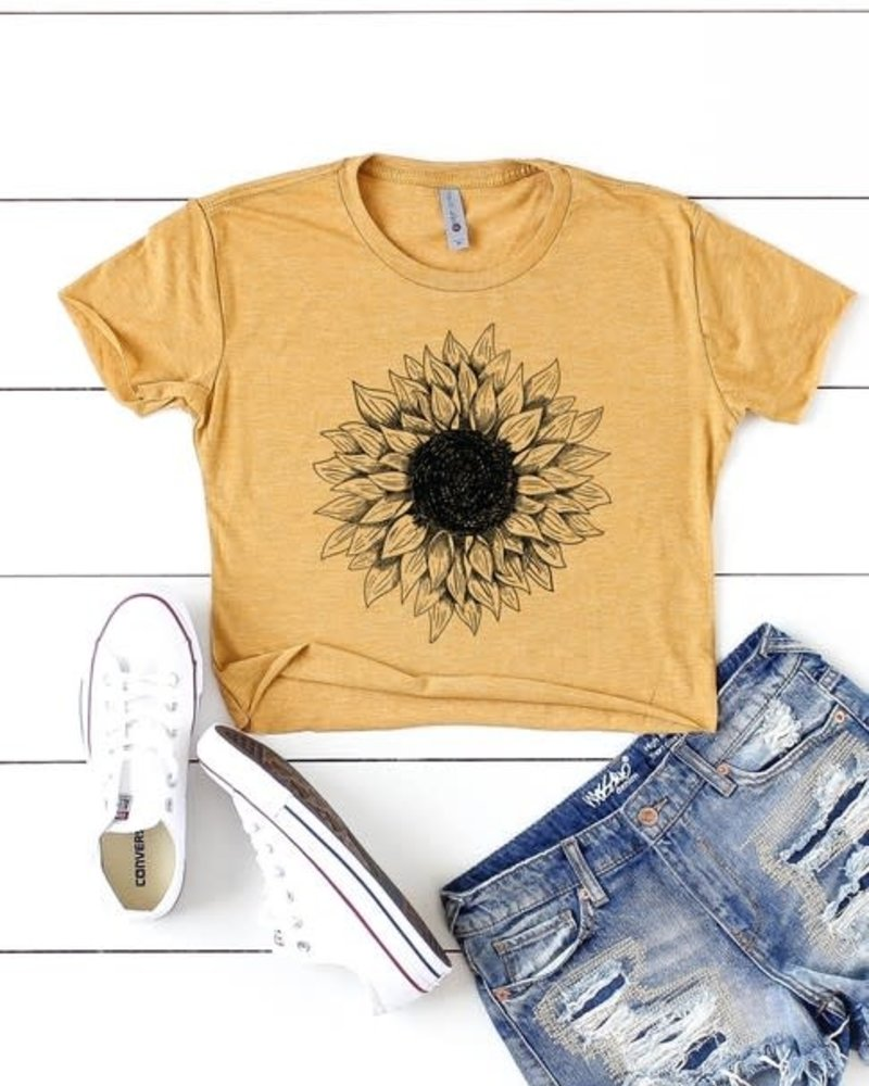 Next Level Sunflower Cropped Tee