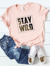 Canvas Leopard Stay Wild Tee