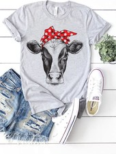 Canvas Cow w/ Bandana Tee