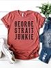 Canvas George Strait Junkie Tee