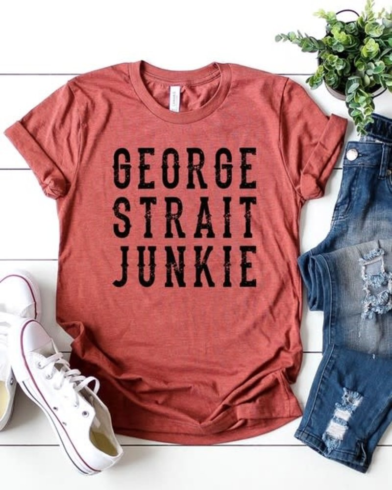 Canvas George Strait Junkie Tee