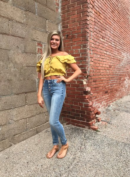 1 Funky Ruffle Crop Top with Tie
