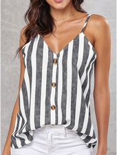 Lily Clothing Striped Button Down Tank