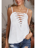 Lily Clothing Cami w/Criss Cross & Lace Detail