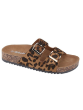 WeeBoo Leopard Two Strap Cork Sandals