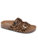 WeeBoo Leopard Two Strap Cork Sandals