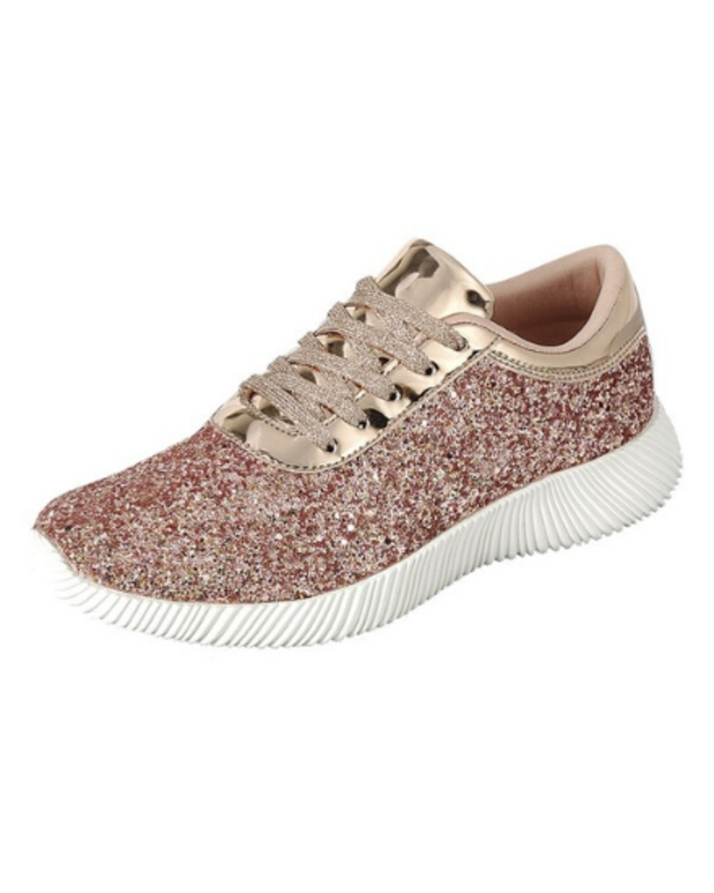 Forever Glitter Lace Up Sneaker