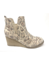 Very G Erin Leopard Wedge Bootie