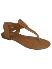 Lynx Tan laser cut thong sandal