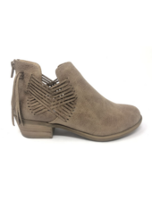 Very G Parker Zip Up Bootie with Criss Cross Design