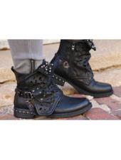 Black Studded Boot -