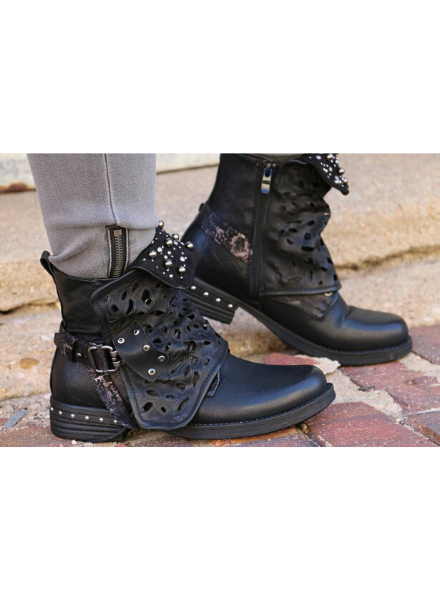 Black Studded Boot -