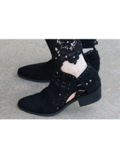 DeeDee - Black Short Bootie -