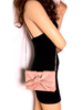 Calin Vegan Clutch w/ Knotted Bow