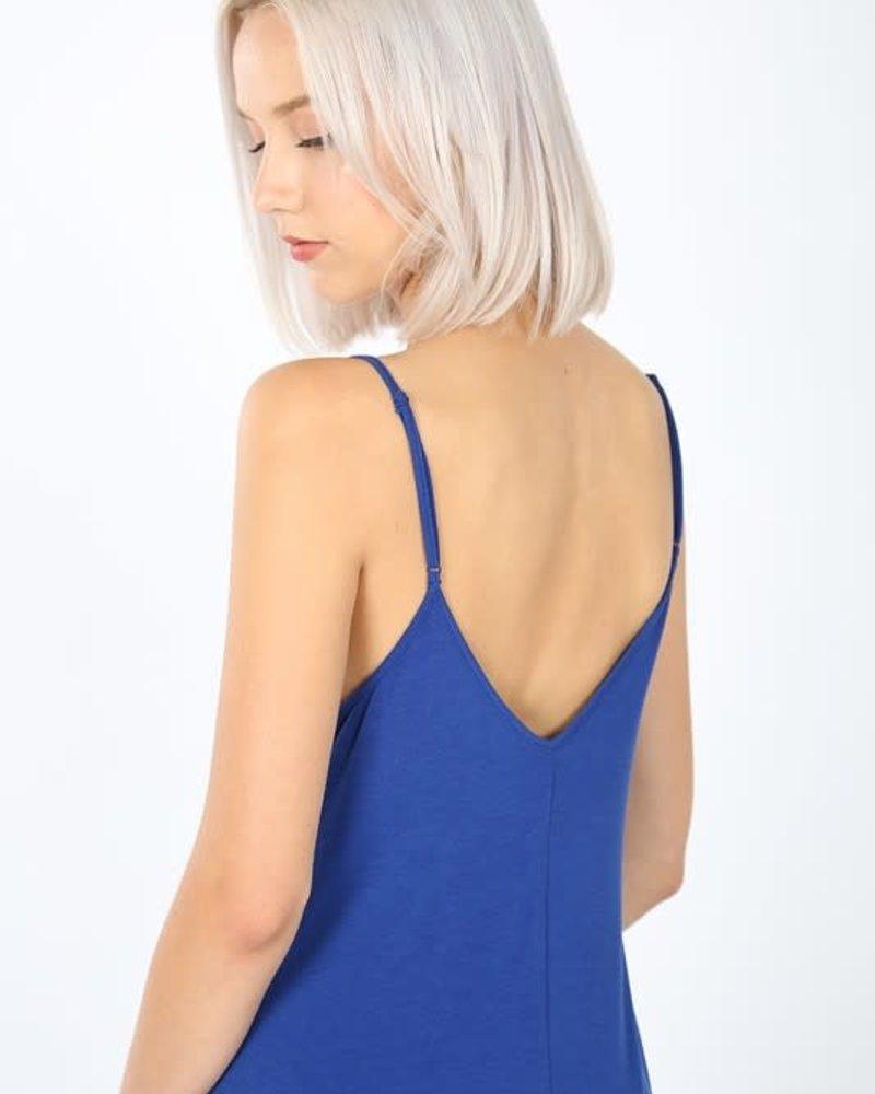V- Neck Cami Dress w/Pockets