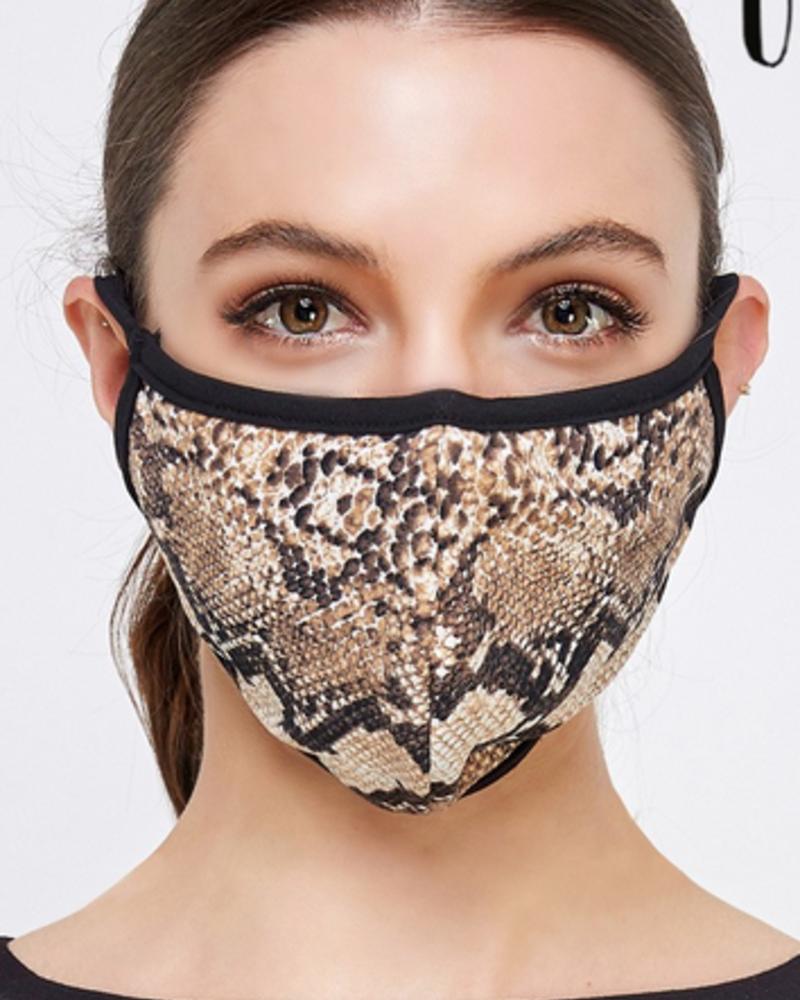 Cream N Sugar Fashion Reusable Mask