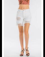 KanCan Karly High Rise Distressed Bermuda Shorts