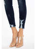 KanCan HighRise ButtonFly Distressed Raw Hem Ankle Skinny