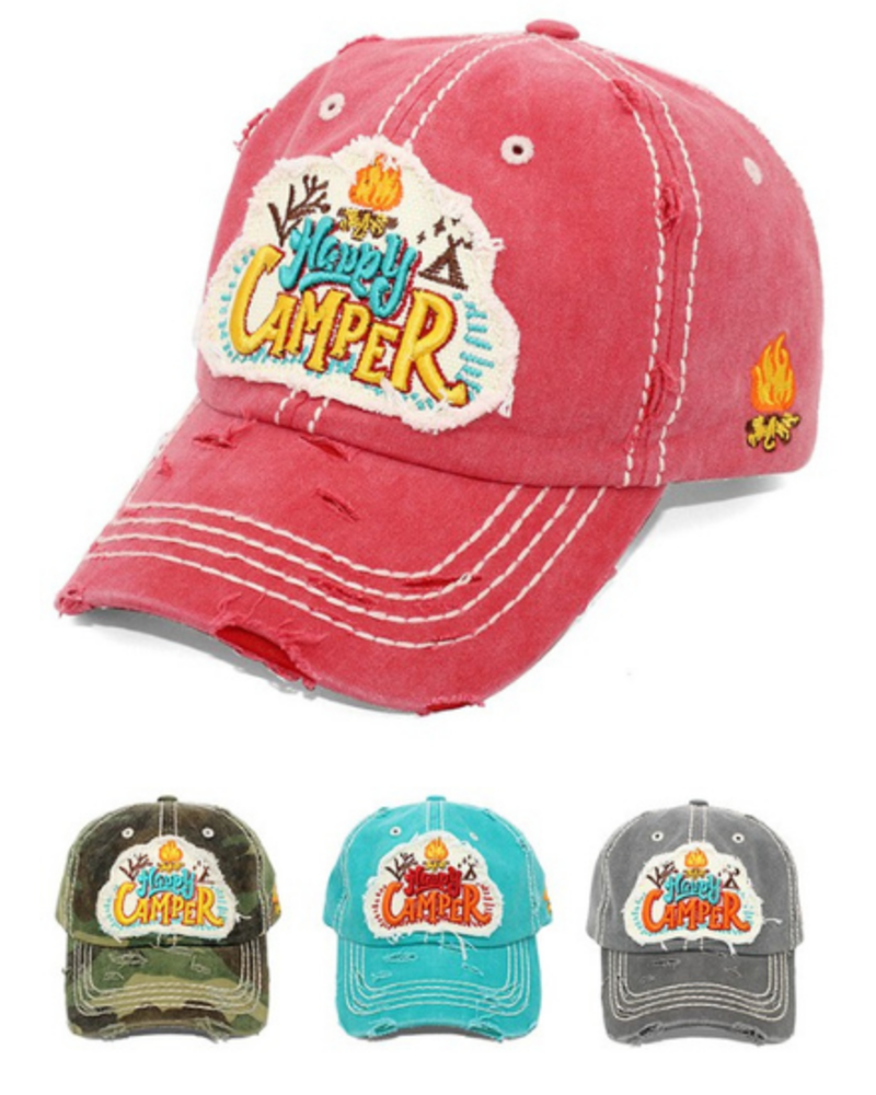 4350 District Happy Camper Vintage Cap