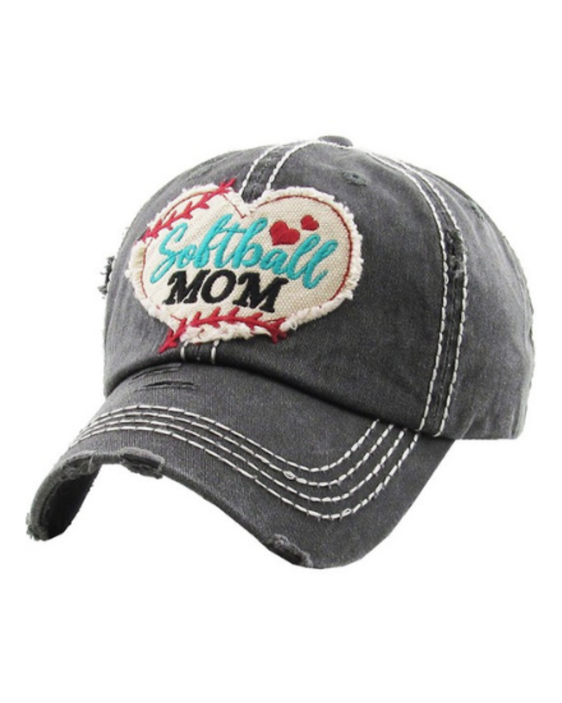 KBethos Softball Mom Vintage Cap