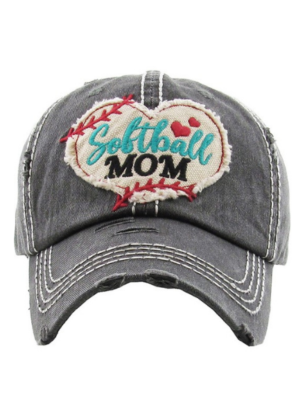 KBethos Softball Mom Vintage Cap